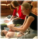 Claire and Helen baby massage